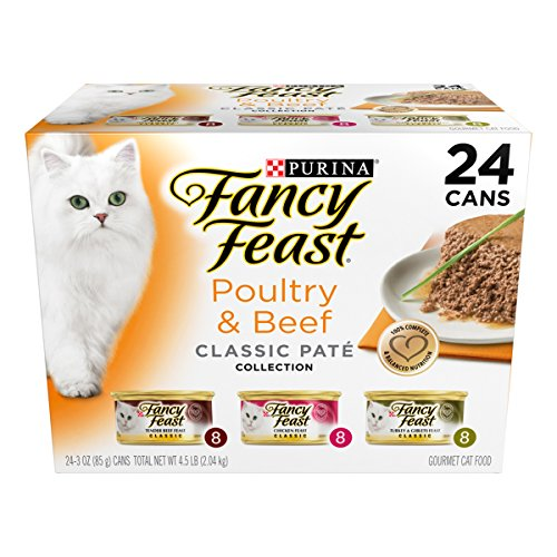 Purina Fancy Feast Classic Poultry & Beef Collection Cat Food – (24) 3 oz. Cans