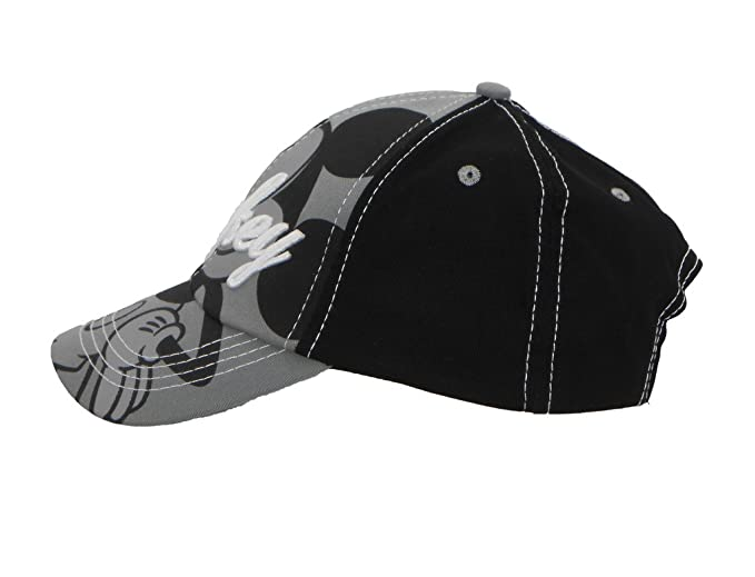 022332873d0ff Image Unavailable. Image not available for. Color  Disney Kids Mickey Mouse  Black Embroidery Cap ...