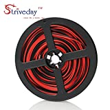 Striveday™ 24ga 10meter/ 32.8FT 2 Conductor 2PIN Red/Black Hook up Wire 12V DC 2468 24AWG RED BLACK wire for Led Strips Single Color 3528 5050