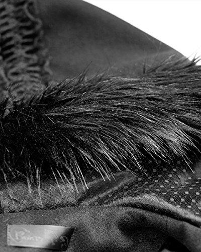 Manches Noir Longues Manteau Noir Femme Rave Punk aEwHZZ