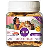 Halo Liv-A-Littles Grain Free Natural Dog Treats & Cat Treats - Freeze Dried Wild Salmon - 1.6-Ounce