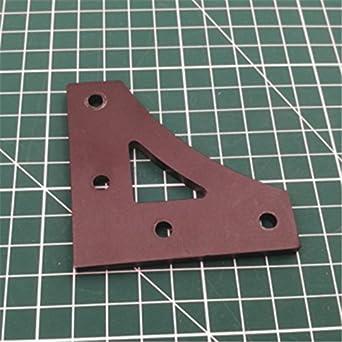WillBest - 1 placa esquinera en forma de V con conector en ángulo ...