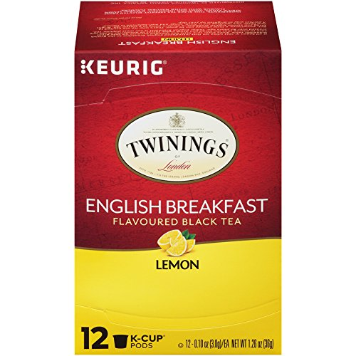 Twinings English Breakfast Lemon Tea K-Cups, 72 Count (Lemon Twinings Tea)