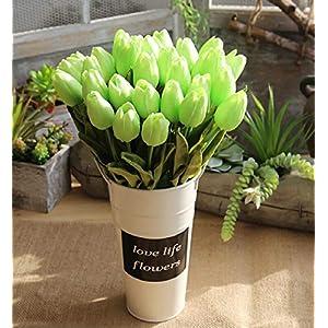 Clearance Sale!DEESEE(TM)💚💚5 Pcs Artificial Fake Flowers Tulip Bouquet Floral Wedding Bouquet Party Home Decor 88
