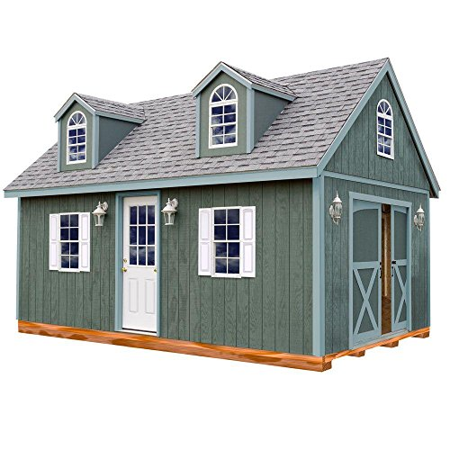 24' Storage (Arlington 12 ft. x 24 ft. Wood Storage Shed Kit with Floor including 4x4 Runners)
