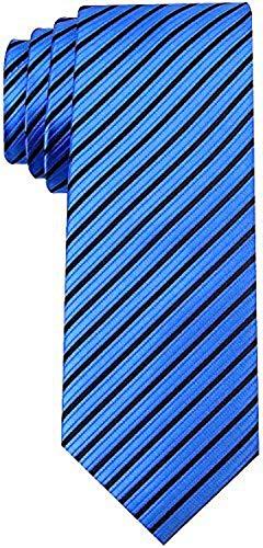 (Scott Allan Collection Striped Ties for Men - Woven Necktie - Navy Blue)