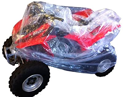 New Large Clear 2 Mil Poly Plastic Cover - Great for ATV's, Quad's, Mini Bike's & Bicycles!