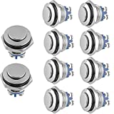 Etopars™ Car Auto Vehicle 16mm Momentary Stainless Metal Push Button Switch 3A/250V 2Pin