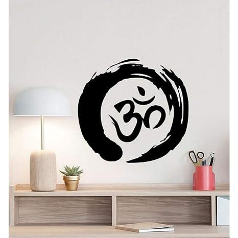 Mzdzhp Pegatina De Pared Zen Circle Om Symbol Tatuajes De