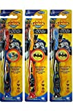 Batman Children's Tooth Brush (Pack of 3) With Cap and Suction - Toothbrush Designs Vary - Premium Quality