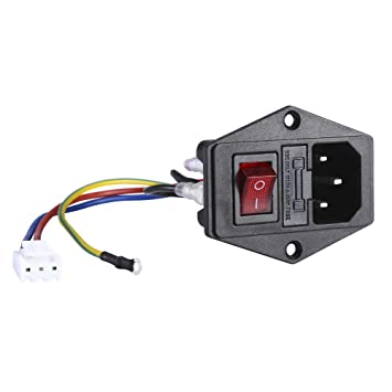 10a 250v ac socker switch 3 pin iec320 c14 inlet module plug fuse 3-Pin Socket Drawing 10a 250v ac socker switch 3 pin iec320 c14 inlet module plug fuse 5pcs wires socket switch amazon com