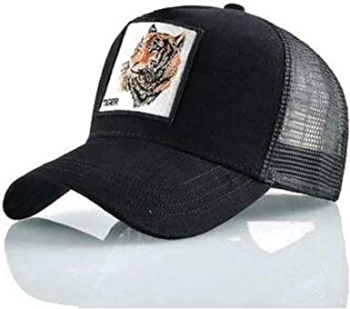 Gorra Visera Curva Trucker Animal Tigre Negra: Amazon.es: Ropa y ...