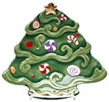 Appletree Design Christmas Tree Dessert Plate, 8 by 8-Inch