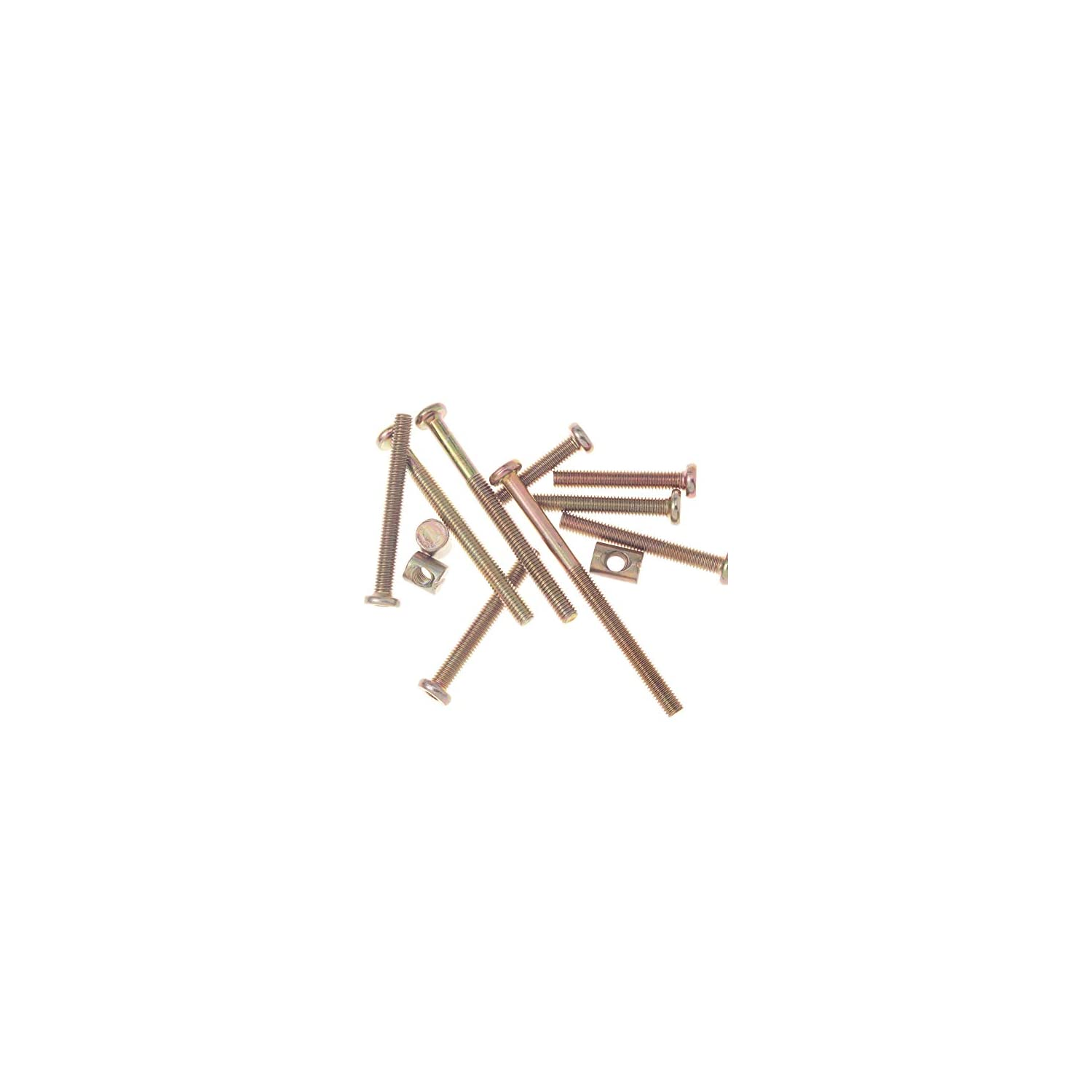Crib Bolts and Screws Hardware Kit Barrel Nut for Furniture Baby Toddler Bed Crib Screws Replacement Parts M6 x 40mm / Set of 12