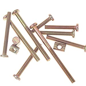Crib Bolts and Screws Hardware Kit Barrel Nut for Furniture Baby Toddler Bed Crib Screws Replacement Parts M6 x 30mm / Set of 12