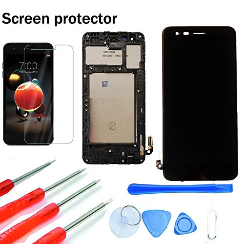 Maojia Screen Replacement for LG Aristo 2 X210/SP200 Tribute Dynasty/K8 2018/Zone 4 X 210V/Fortune 2/Risio 3 Glass LCD Display Touch Digitizer Assembly + Tools (Black with Frame)