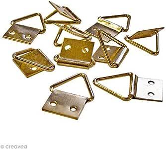 Triángulos para colgar cuadros 24 x 31 mm - pack de 8 ganchos ...