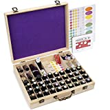72 Bottle Wooden Essential Oils Storage Box with Handle, 64 Slot for 5-15ml Essential Oils & 8 Slot...