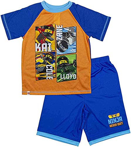 - LEGO Boy's Ninjago 2-pc Pajama Short Set (10-12, Orange/Blue)