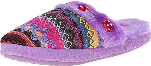 Blazin Roxx Femmes Pantoufles Rayures Tissées Colorées Violet Moyen Us