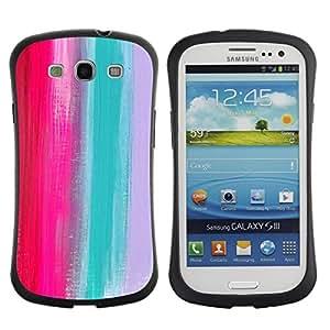 Fuerte Suave TPU GEL Caso Carcasa de Protección Funda para Samsung Galaxy S3 I9300 / Business Style Palette Pink Teal Grey