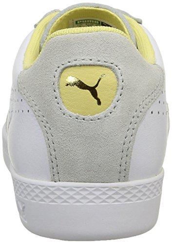 Puma Match Lo Basic Sport Damen Sneakers Weiß (bianco-giallo Giallo 13)