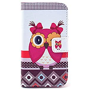 Casea Packing Hot Pink Owl Girl Wallet PU Leather Cover Case for Motorola Moto X