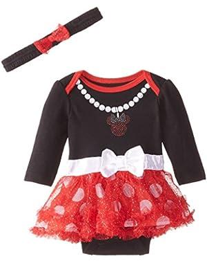 Baby Girls Minnie Bodysuit Dress