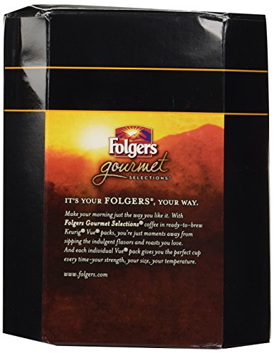 32 Count - Folgers Gourmet Selections Black Silk Bold Coffee Vue Cup For Keurig Vue Brewers