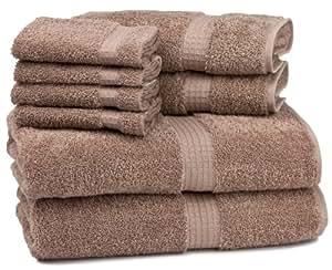 Cambridge Contessa 8-Piece Bath Towel Set, Mushroom