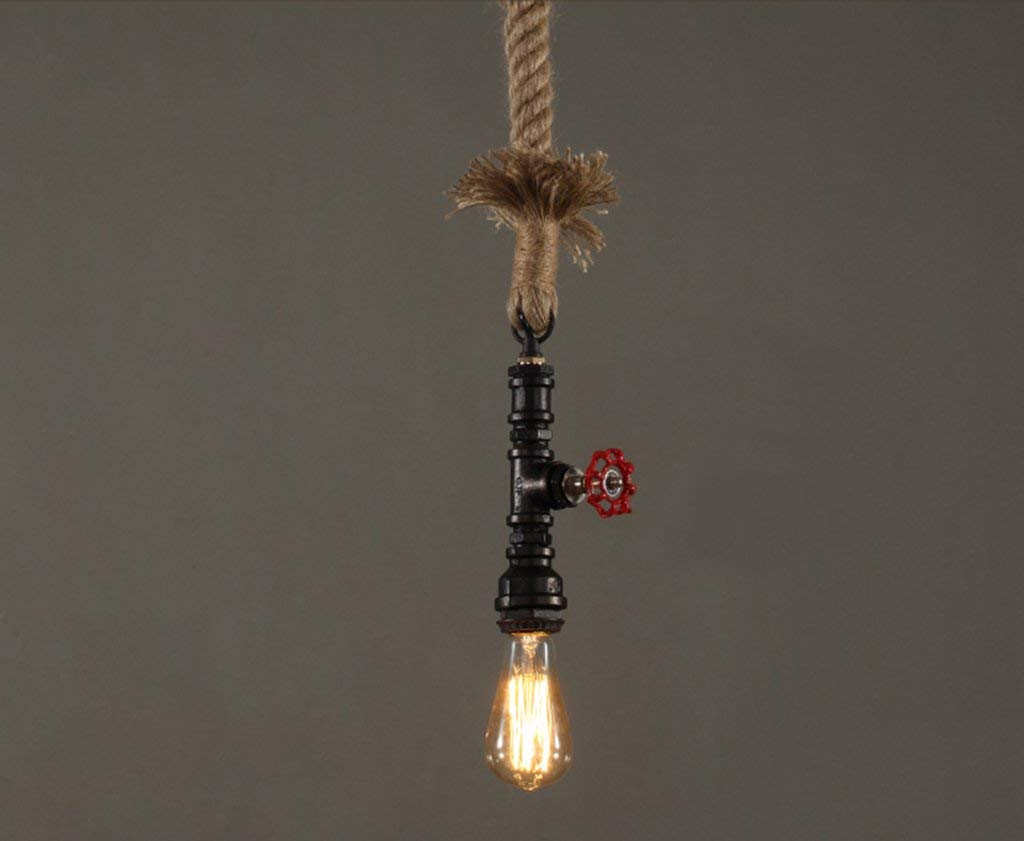 KFDQ Novely Kronleuchter-Loft Industrial Style Rohr Hanf Kronleuchter Restaurant Bar Wohnzimmer Lampe 20  14Cm E27  1, kreative dekorative Beleuchtung
