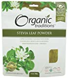 Organic Traditions Stevia Powder, Green Leaf, 3.5 Ounce (Pack of 6)