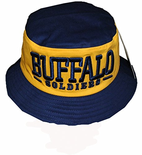 Buffalo Soldiers Men's Bucket Hat Navy/Yellow