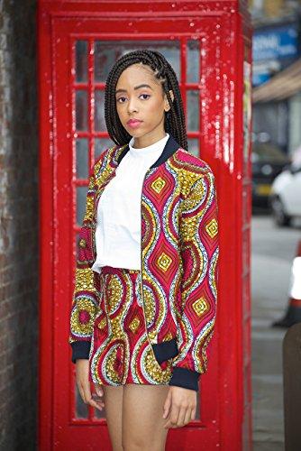 Bomber jacket / African print bomber jacket/ ankara print bomber jacket - pink by Gitas Portal