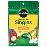 Outdoor Living : Miracle-Gro Watering Can Singles - Includes 24 Pre-Measured Packets (10.24 ounces) of All Purpose Plant Food (Plant Fertilizer)