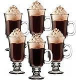 KIT CONJUNTO DE CANECA XICARA DE VIDRO TACA ALTA CAPPUCINO CAFE CHOCOLATE DOLCE GUSTO COFFE 240ML
