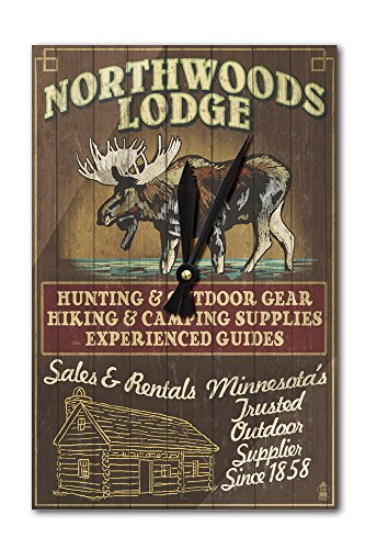 Lantern Press Minnesota - Moose Northwoods Lodge Vintage ...