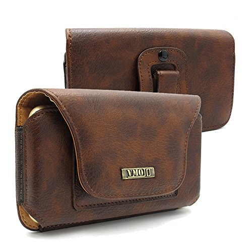 Phone Universal Horizontal Leather - VMOJO(TM) Universal Premium Leather Wallet ID Card Slot Elastic Band Edge Horizontal Belt Clip Holster Case,for 4.7