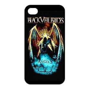 Mystic Zone Black veil Brides iPhone 4 Case for iPhone 4/4S Back Cover BVB Fits Case KEK0963