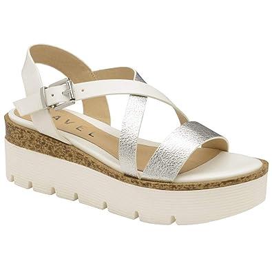 290ce215b21d Ravel Silver Layton Flatform Sandals  Amazon.co.uk  Shoes   Bags