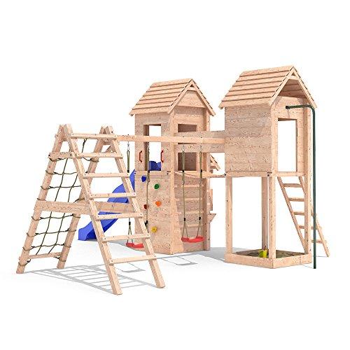 MIRADORI Spielturm Spielhaus Rutsche Schaukel Kletterturm 1,50m Podest (erweiterter Schaukelanbau)