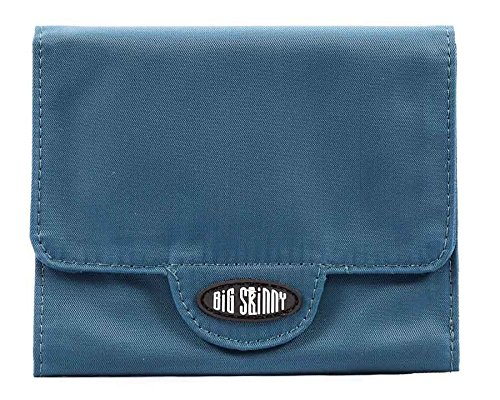 Big Skinny Women's Trixie Tri-Fold Wallet, Holds Up to 30 Cards, Teal ()