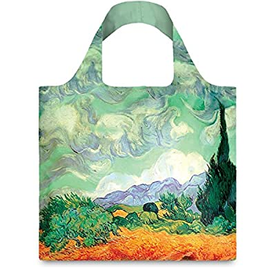 LOQI Museum1 Collection Pouch Reusable Bags (Set of 4), Multicolor