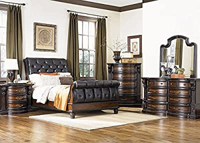 "THE ROOMPLACE Regency 8 Pc. Queen Bedroom Furniture Set 17"" Height"