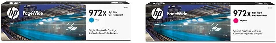 HP 972X | PageWide Cartridge High Yield | Cyan | L0R98AN & 972X | PageWide Cartridge High Yield | Magenta | L0S01AN