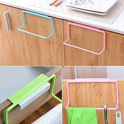 Amazon Com Kitchen Towel Rack Hanging Holder Cupboard Cabinet Door