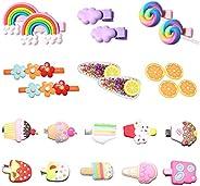 Cute Hair Clips for Girls, 22Pcs Candy Barrettes Fun Dessert Patterns Hair Accessories Pretty Rainbow Hairpins