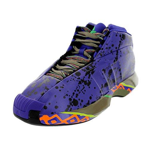 Adidas Men's Crazy 1 Blapur/Black1/Vivgrn Basketball Shoe 8 Men US