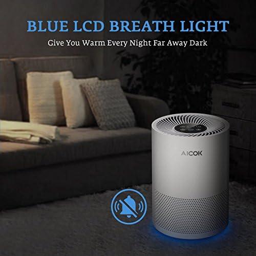 Aicok - Limpiador de Aire con Filtro HEPA (ABS+PC, 36 x 25 x 25 cm), Color Blanco: Amazon.es: Hogar