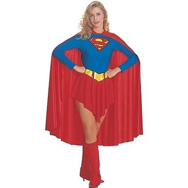 Adultu0027s Womens Superman Supergirl Leotard Costume Size Small ...  sc 1 st  Amazon.com & Amazon.com: Adultu0027s Womens Superman Supergirl Leotard Costume Size ...